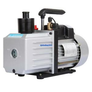 9 Cfm Rotary 3 4hp Air Vacuum Pump Hvac Refrigerant Conditioning Single Stage