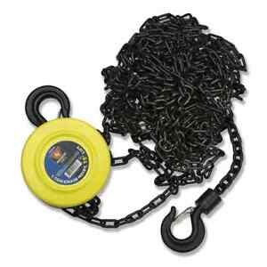 1 Ton Chain Hoist 20 Ft Lift Chain Dia 1 4 W Mechanical Load Brake