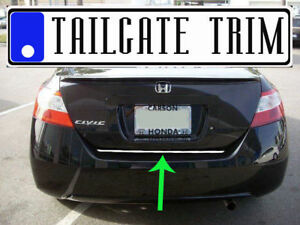 Honda Civic Coupe 2007 2008 2009 10 11 12 15 Chrome Tailgate Trunk Trim Molding