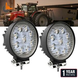 Pair 48w 4inch Led Work Light Flood Beam Tractor Truck Trailer Driving Lamp