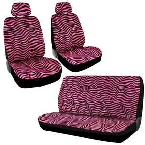 Bdk Wave Stripe 11 Piece Car Seat Covers Universal Fit Full Bench Pink