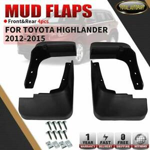 4pcs Splash Guard Mud Flaps Mudflaps For Toyota Highlander 2012 2015 Front