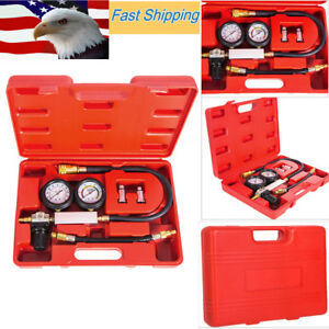 Petrol Engine Compression Leakage Leakdown Detector Cylinder Leak Tester Kits Nj