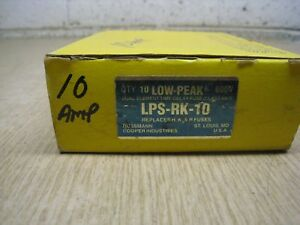 Box Of 10 New Buss Fuse Lps rk 10 600v Dual Element lo peak Free Shipping