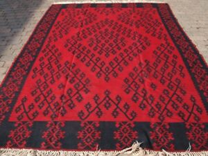 Old Sharkoy Kilim Large Size Traditional Design Good Colour About 50 Yrs Old