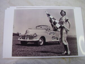 1948 Chevrolet Convertible Indy Pace Car Flag Girl 11 X 17 Photo Picture