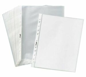 1000 Sleeves Clear Poly Plastic Sheet Page Protectors Document Office 8 5x11