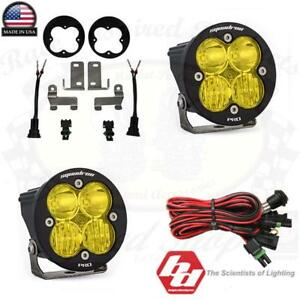 Baja Designs Off Road Amber Light Squadron R Pro W Mount Kit For 2010 Up Toyota