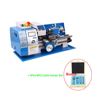 Automatic Lcd Display Metal Mini Metal Turning Lathe Machine Wood Drilling 600w