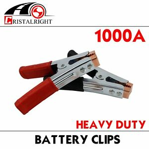 Pair 1000a Auto Heavy Duty Battery Charger Jumper Booster Cable Charging Clamp