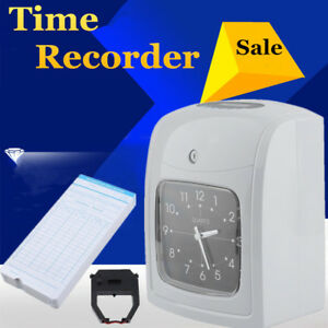 K 8 Electronic Time Clock Punch Card Employee Work Hours Payroll Recorder Tb