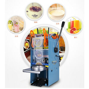 270w 220v Electric Automatic Plastic Tea Cup Sealer Sealing Machine 300cups h