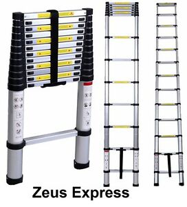 Foldable Telescopic Ladder Extension 12 5ft Aluminum Steps 3 8m Light Home Work
