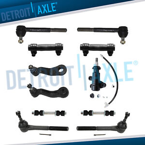 Front Tie Rod Pitman Idler Arm Sway Bar Kit For Chevy Gmc C1500 C2500 Yukon