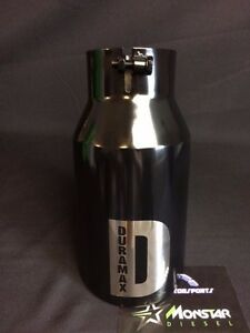 5 Inlet 6 Outlet 12 Long Black Rolled Angle Diesel Exhaust Tip Custom Logo
