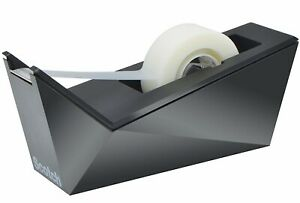 Scotch Facet Design Desktop Tape Dispenser Black Or Blue Color Option By 3m