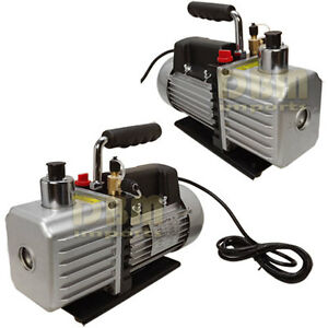 2 Stages 13hp Electric Rotary Vane Vacuum Pump 2 5cfm Free Shipping