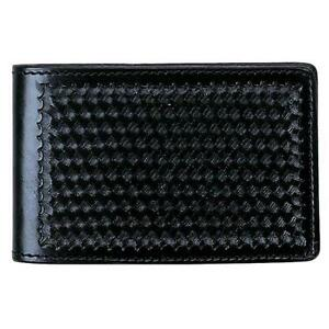 Aker Leather Black Basket Weave Finish Notebook Cover 4 X 7 A583 bw