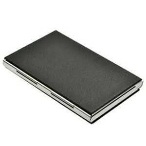 Black Business Card Case Business Card Holders Leather Pu Stainless Steel