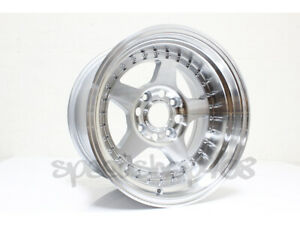 Rota Kyusha Wheels Full Royal Silver 15x9 0 4x114 3 For 240sx S13 Datsun 240z