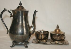 Vintage International Silver Company Silver Plated Tea Set