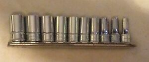Snap On 10 Pc 1 4 Drive 6 Point Semi Deep Metric Socket Set