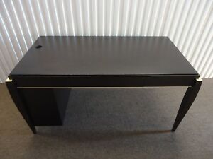 Gorgeous And Unique Wood Table Desk Mid Century Modern In Dark Wood Tone