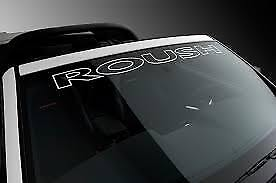 Ford Mustang Roush Outline Windshield Vinyl Decal Sticker Vehicle Logo White
