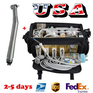 Portable Dental Turbine Unit Bag Compressor Suction Treatment Machine Handpiece