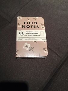 Field Notes Abercrombie Fitch Floral Prints sealed