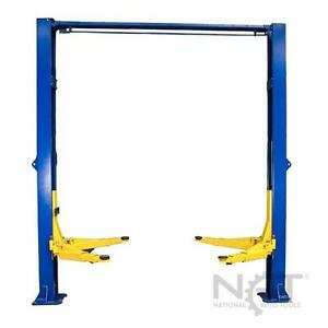 New Triumph 10 000 Lbs 2 post Auto Lift Overhead W Asymmetric 3 Stage Arms