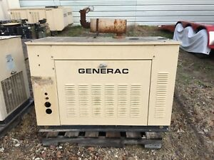 Generac Propane Generator 25kw Single Phase Sound Proof Enclosure 334 Hours