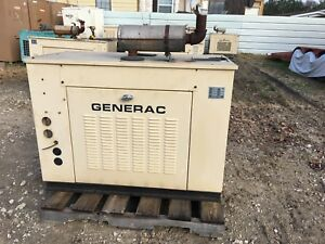 Generac Propane Generator 25kw Single Phase Sound Proof Enclosure 160hours