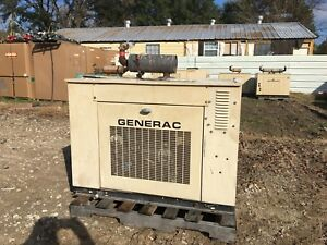 Generac Propane Generator 25kw Single Phase Sound Proof Enclosure 361 Hours