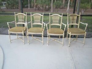 Ethan Allen Italian French Country Arm Chair Set Of Four