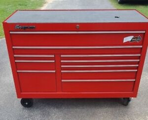 Snap On Classic 78 Roll Cab Tool Box Kra2422pbo Red Cabinet Drawers Chest