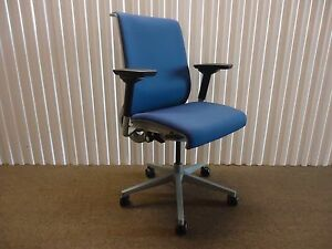 Steelcase Ergonomic Think Chair Fully Adjustable 4 Available Royal Blue Fabric