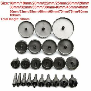 16 100mm Carbide Tip Drill Bit Tct Hole Saw Set Stainless Steel Metal Alloy