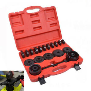 23 Pcs Front Wheel Drive Puller Pulley Bearing Removal Adapter Tool Kit W case
