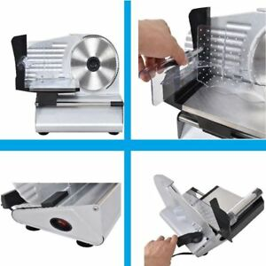 Electric Meat Slicer Heavy Stainless Steel Deli Cheese Cutter Food Slicer Home