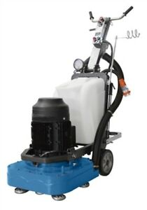 Concrete Floor Grinder For Terrazzo Marble Granite 10 Hp Motor 4 Heads Wet dry