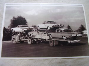 New 1960 Chevrolet On Car Carrier 11 X 17 Photo Picture
