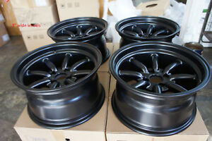 Jdm 15 Pcd100x4 Staggered Wheels Rims Watanabe Style Civic Ctr Miata Mx5 E30