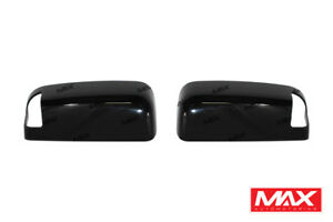 Gloss Black Abs Side Mirror Cover 10 19 Dodge Ram 1500 2500 3500 W towing signal