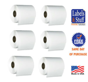 6 Rolls 250 Labels 4x6 4 X 6 Direct Thermal Zebra Eltron Tsc Shipping Labels