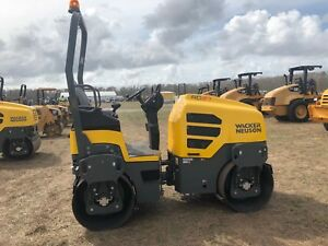 2017 Wacker Neuson Rd27 120 Double Drum Vibrating Roller Compactor Only 4 Hrs