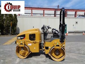 Unused New Caterpillar Cb2 7 Double Drum Vibrating Roller Compactor Only 2 Hrs