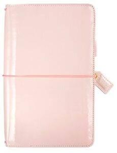 Websters Pages Color Crush Floral Traveler s Notebook New Patent Petal Pink