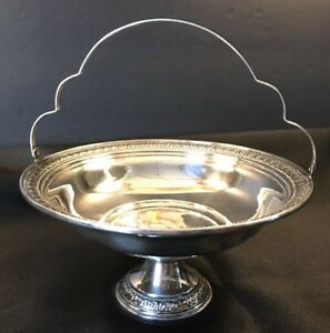 Sterling Silver Compote Basket W Handle By Schweitzer