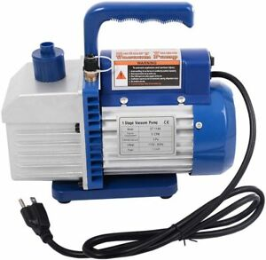 Rotary Vane Deep Vacuum Pump Hvac Ac Air Tool R134 R410a Single Stage 1 3hp 5cfm